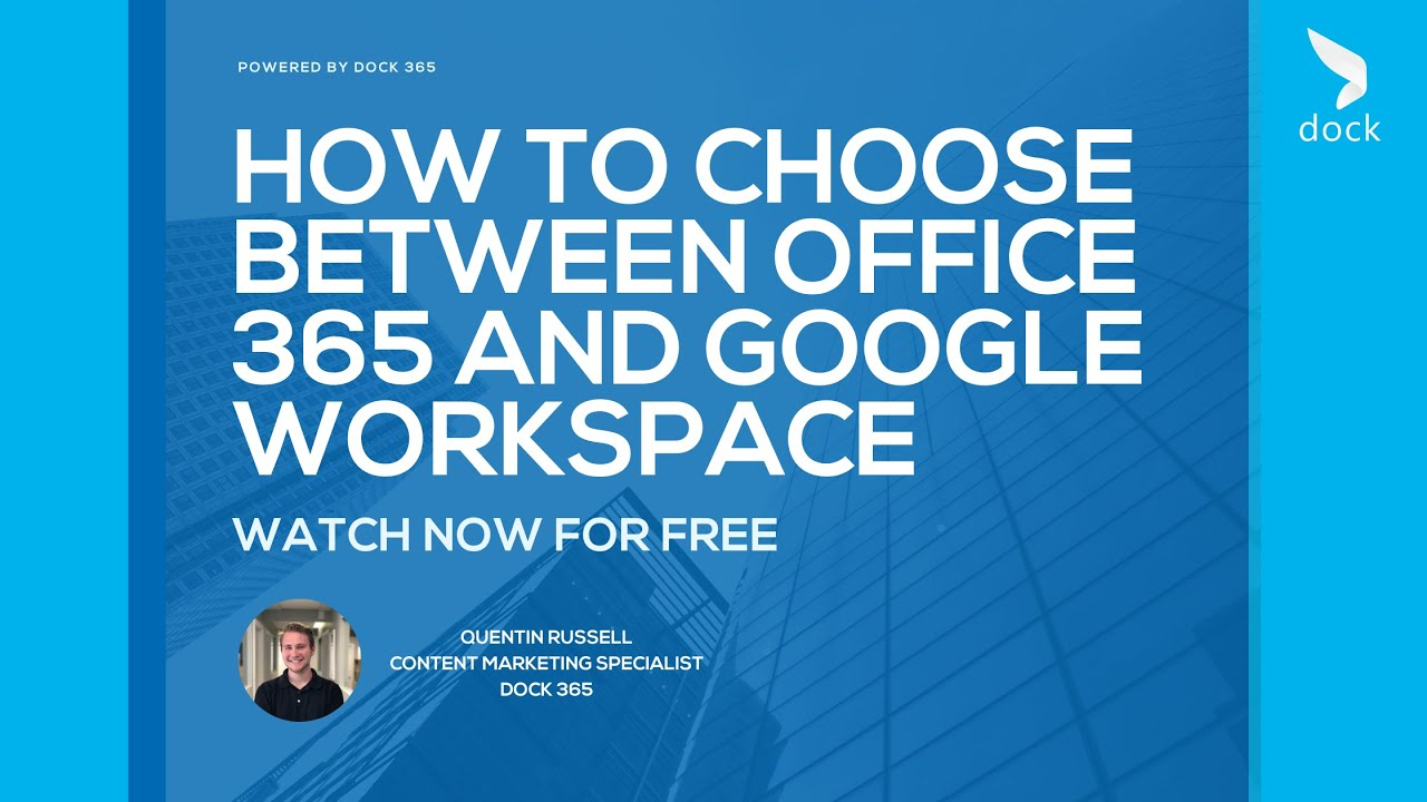 How to Choose Between Office 365 and Google Workspace