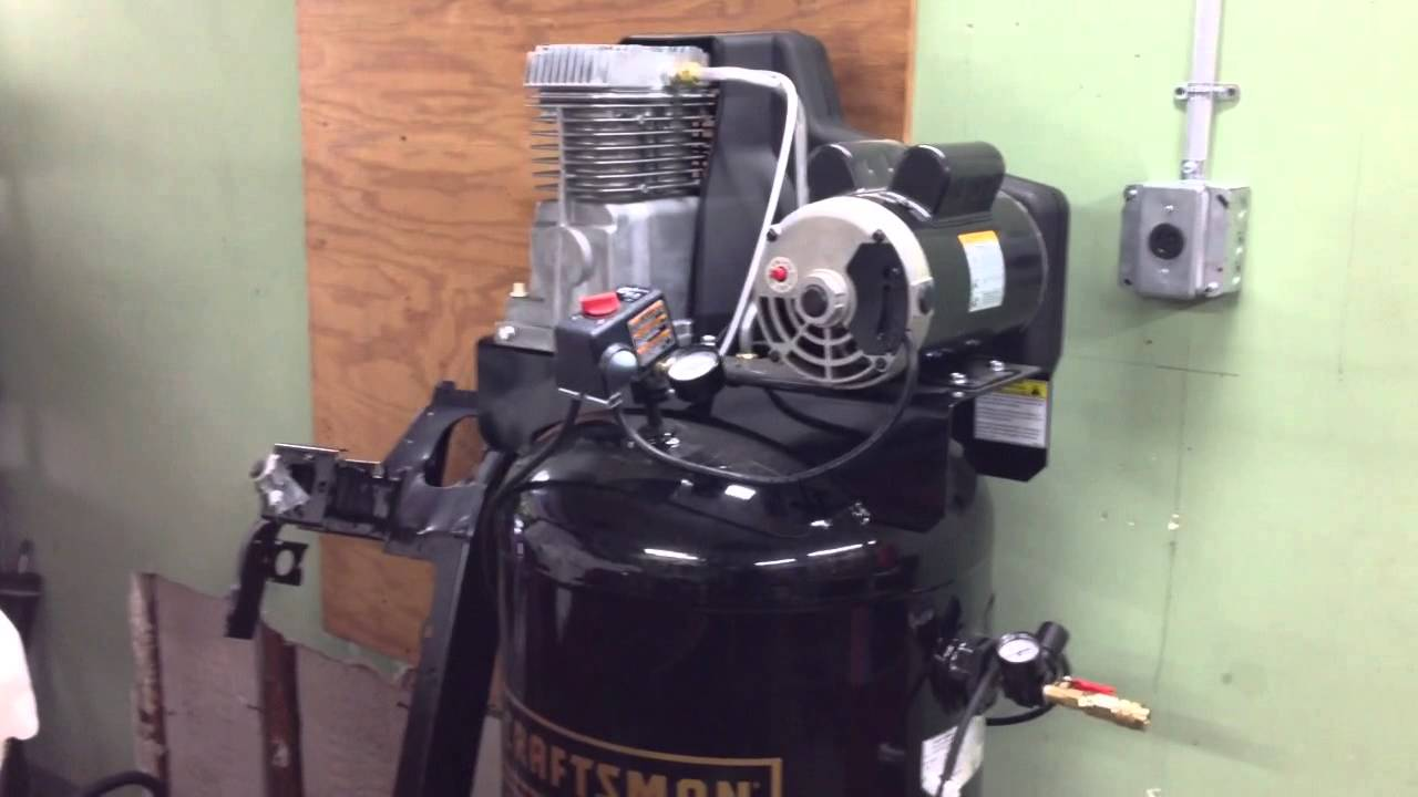 Craftsman Air Compressor Broken Youtube Quincy Duplex Wiring Diagram