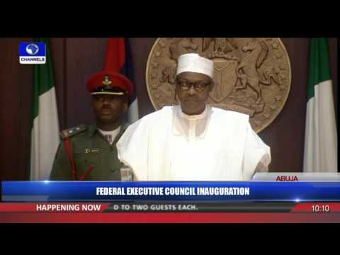 Federal Executive Council Inauguration 11/11/15 Pt 1