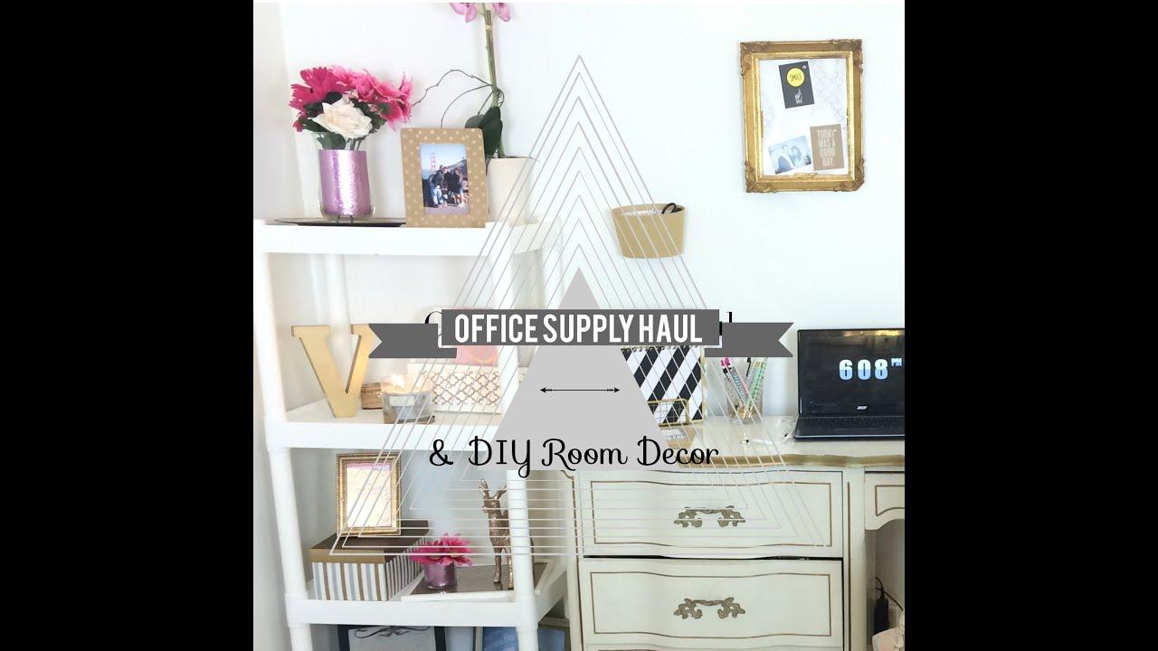 office supply haul diy room decor youtube - Diy Office Decor
