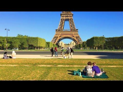 Paris Walk - CHAMP DE MARS Morning Walk to Eiffel Tower - France