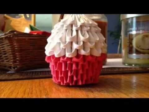 3d Origami Cupcake Part 1
