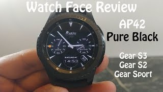 Watch Face Review : AP42 Pure Black Gear S2 Gear S3 Gear Sport