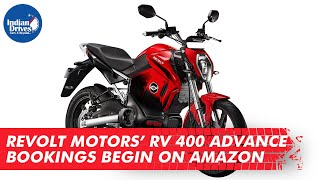 Revolt Motors' RV 400 Electric Bike Advance Bookings Begin on Amazon