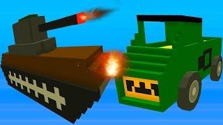 Blocky Demolition Derby Видео для детей мультик про машинки танки тачки уничтожай соперника в гонках(Blocky Demolition Derby - Веселое детское игровое видео про машинки, нам необходимо разобраться с соперником на гоноч..., 2016-09-05T04:00:01.000Z)