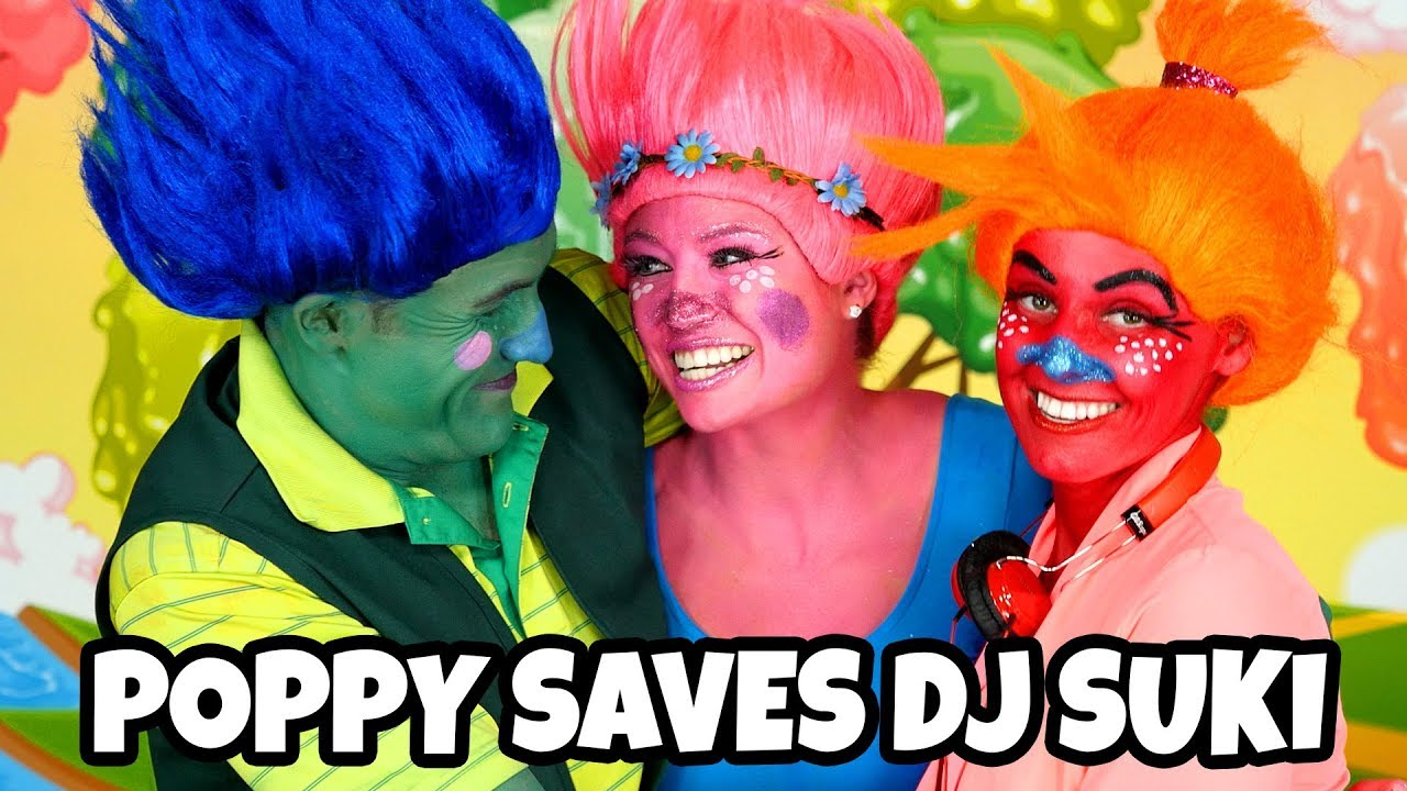 Download Trolls Poppy Turns Branch Happy and Save DJ Suki from the Bergans. Totally TV