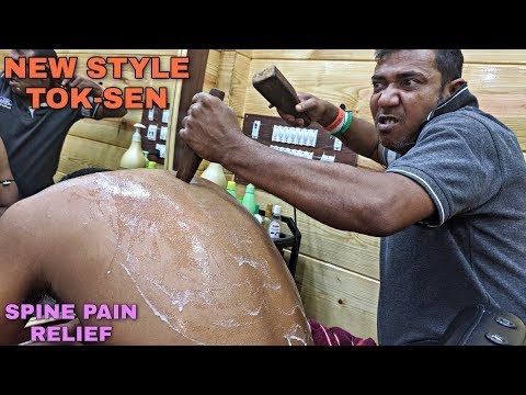 Back Body Pain Relief Tok Sen Massage Therapy With SWAG | Neck \u0026 Spine Cracking | Indian ASMR