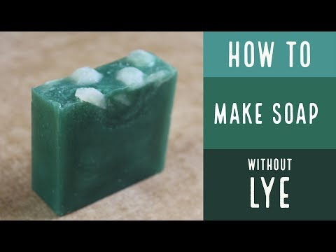 How to make your own soap base without lye