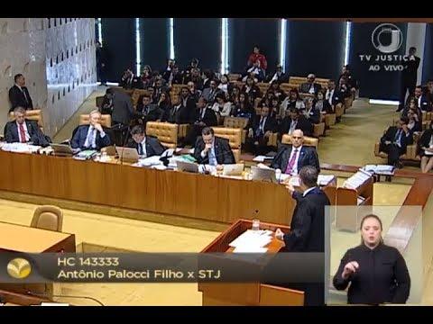 Ao vivo: STF julga agora pedido de habeas corpus de Antonio Palocci