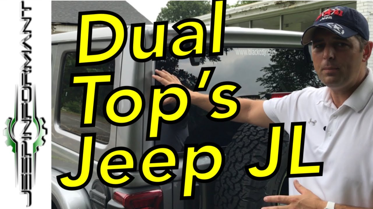 Jeep Jl Dual Top Group Hard Top Soft Top Youtube