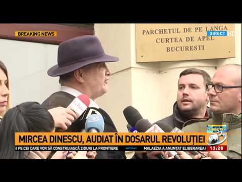 Mircea Dinescu, declara葲ii la ie葯irea de la Parchet