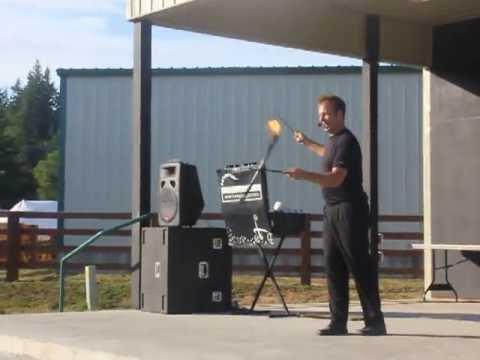 Fire juggling at Grays Harbor Fair