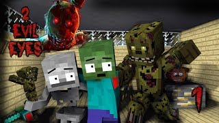 Monster School : Two Evil Eyes FNAF Part 1  - Minecraft Animation