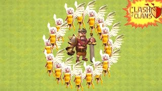 Clash of Clans - INVINCIBLE BARBARIAN KING? 15 Healers + King AMAZING LOOT And FAIL Trolling Noobs