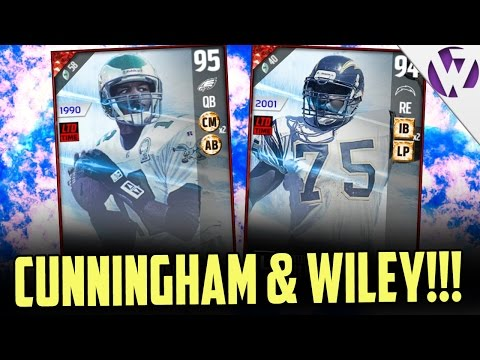 RANDALL CUNNINGHAM & MARCELLUS WILEY!! + GHOST OF MADDEN GIFT!! MADDEN 17 PACK OPENING