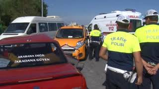 Kayseri'de Ticari Taksi İle Otomobil Çarpıştı: 5 Yaralı