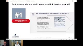 Top4 reasons why companies are forced to renew their Oracle ULA