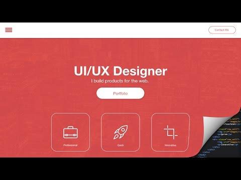 Web Design Speed art + Speed Code - Portfolio Site