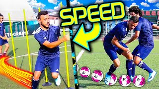 ⚡SPEED FOOTBALL CHALLENGES ⚽!!! w/Elites