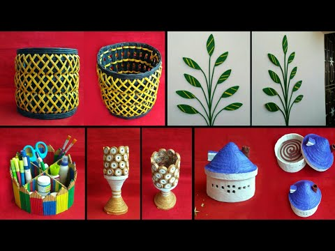 5 ideas of Newspaper craft | best out of waste craft idea | recycle newspaper | HMA##350