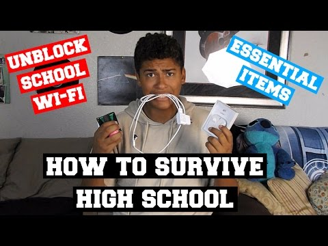 How to survive High school (Unblock school wifi + essential items) | Friday Funday #13