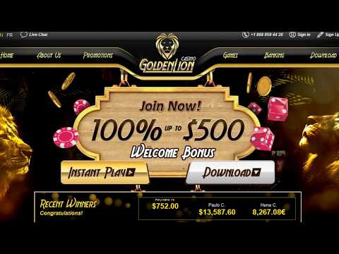 Gamble With The Best American Express Casino Online At Golden Lion - $500 Welcome Bonus