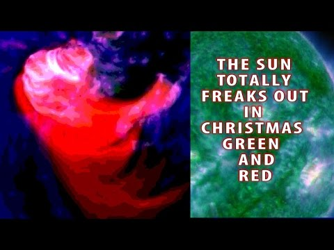The Sun totally Freaks out in Christmas Green & Red - Panic Cuddle NOW!