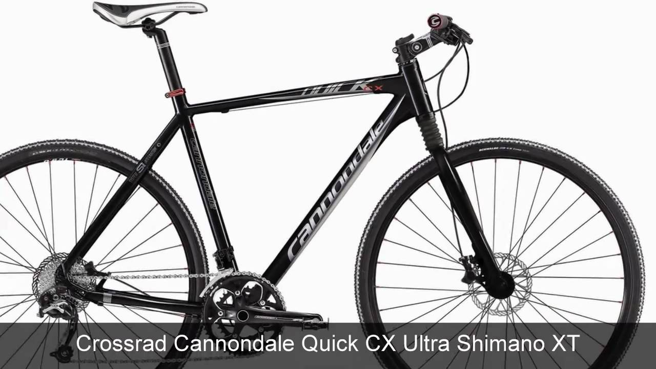 cannondale quick cx ultra shimano xt crossrad youtube. Black Bedroom Furniture Sets. Home Design Ideas