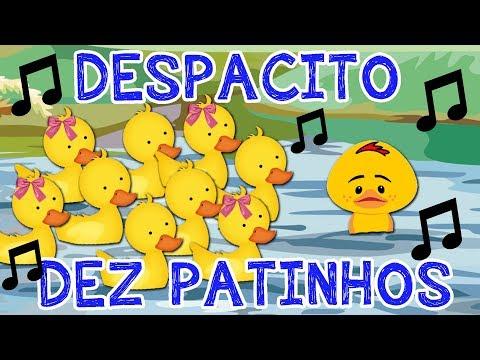 DEZ PATINHOS - Música DESPACITO ( Paródia ) com PATINHO FEIO