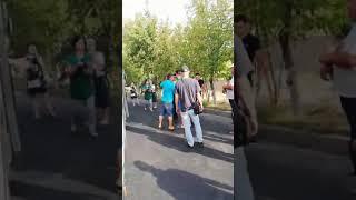 Драка автобусников в Шымкенте