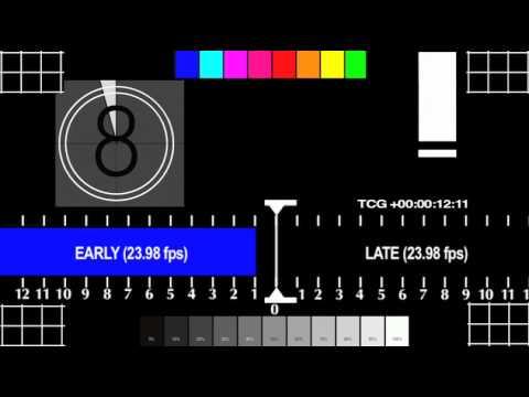 Audio Video Sync Test & Calibration 23.976fps