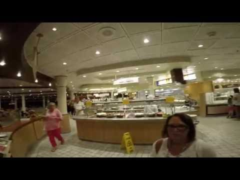 Royal Caribbean's Navigator Of The Seas, Casual stroll the last night of 7 day cruise March 18 2016