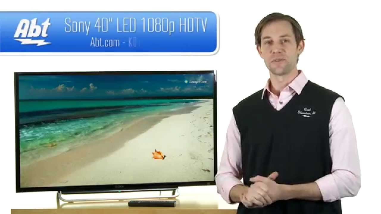 Sony 40 inch LED 1080P HDTV - KDL40W600B Features