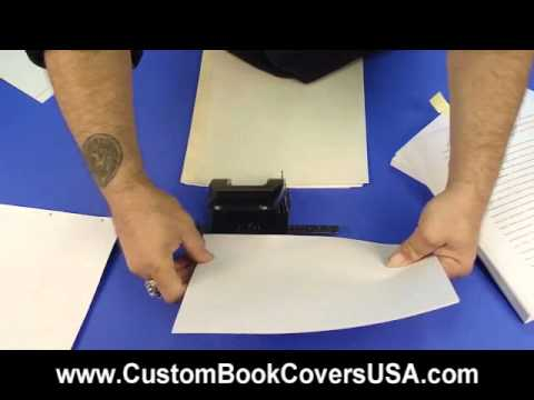 Video1: Book Block with manual 2-hole punch & screw posts