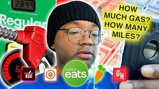 GAS & MILES | HOW MUCH DOES IT TAKE | $200 DAILY |INSTACART  CORNERSHOP  POINT PICK UP