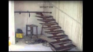 Лестница на монокосоуре с ограждением из стекла(, 2015-11-04T12:17:15.000Z)