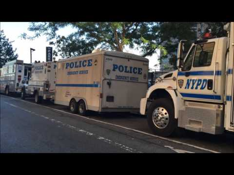 UNITED STATES SECRET SERVICE & NYPD ESU TRUCKS DEPLOYING FOR UNITED NATIONS GENERAL ASSEMBLY.
