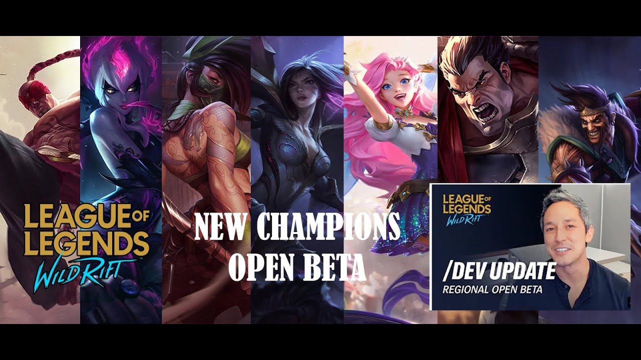 New Champions League Of Legends Wild Rift And Announcement On Open Beta Youtube