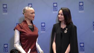 Chelsea Islan, Indonesian actress catches up with UNDP Innovation Champion Sophia at RBF2018