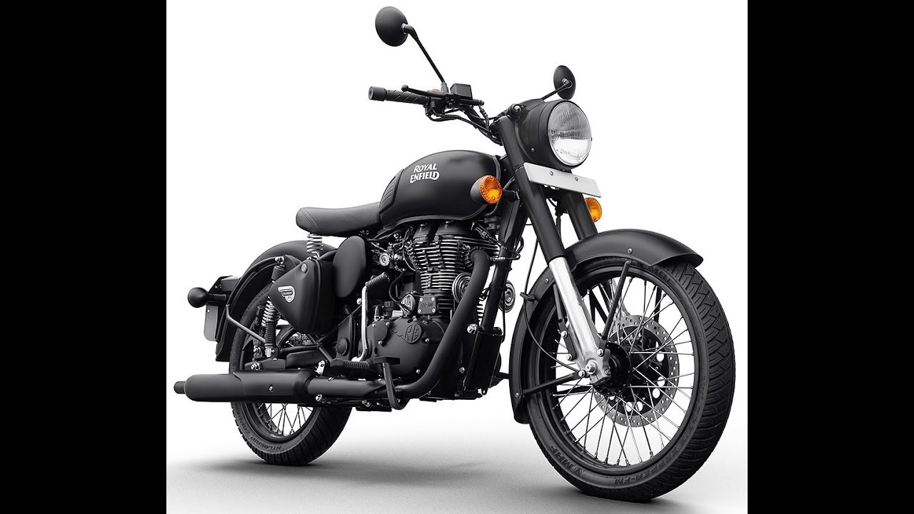 Royal Enfield Classic 500 Stealth Black Photo Gallery Youtube