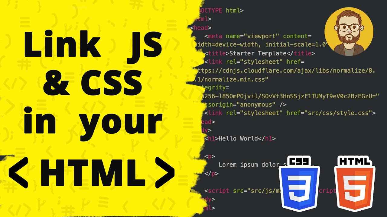 How to add CSS & Javascript to your HTML