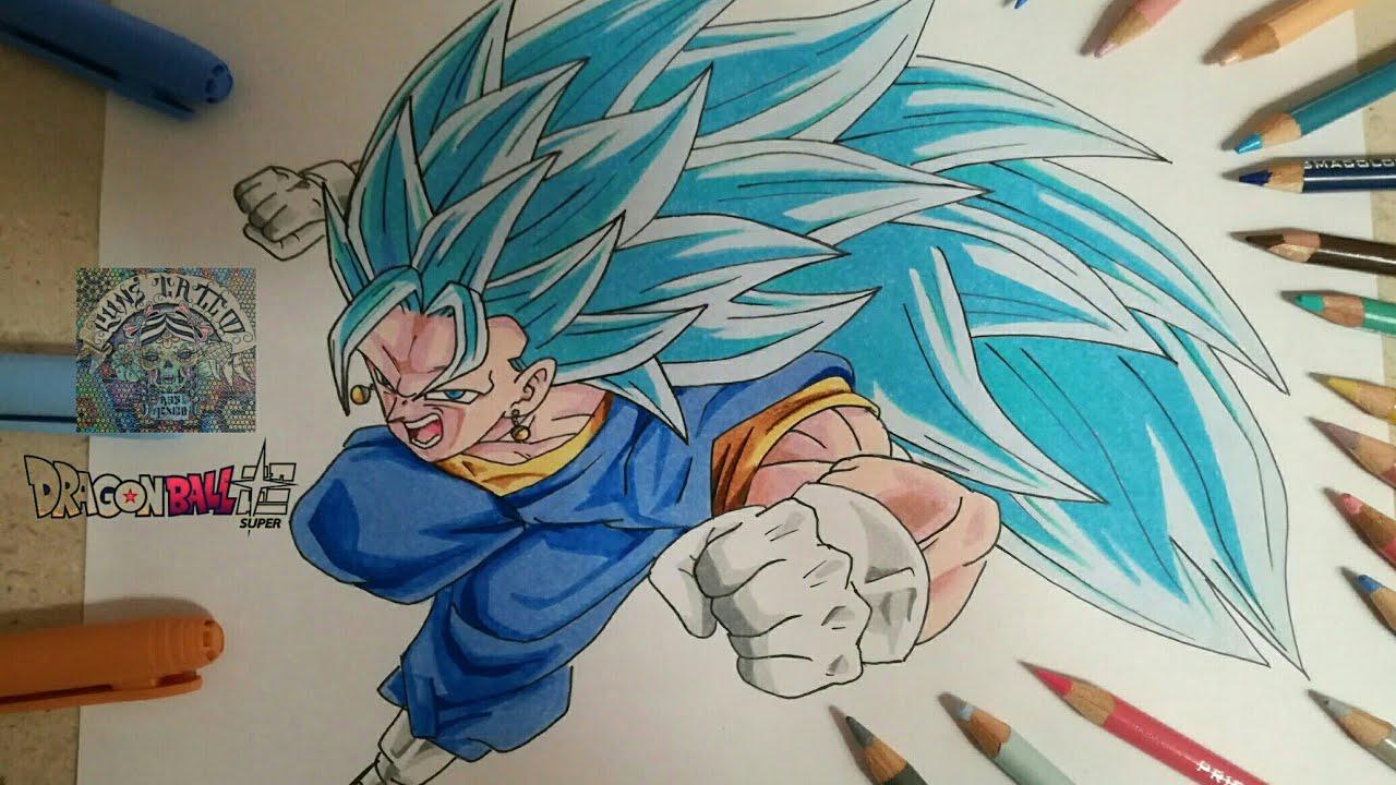 Como Dibujar A Vegito Ssj 3 Dios Azul How To Draw Vegito Ssj 3