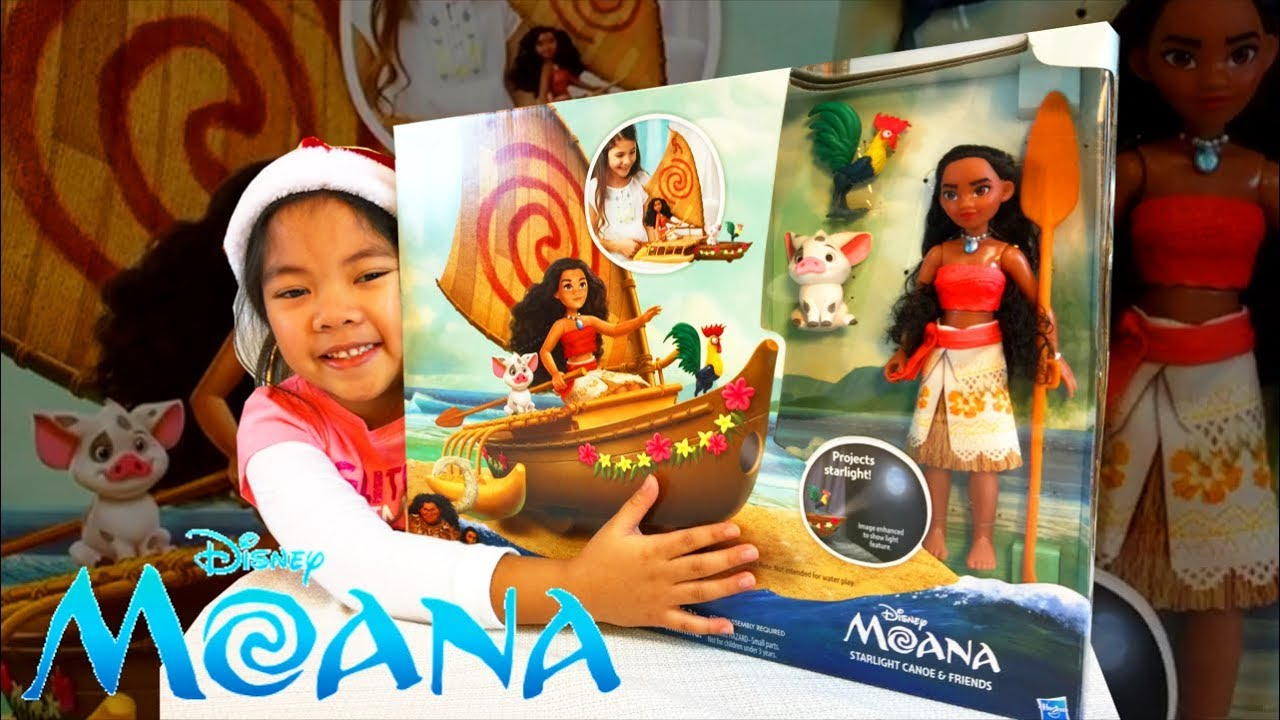 Disney Moana Starlight Canoe And Friends Doll Playset