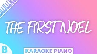 The First Noel (Key of B - Piano Karaoke)
