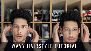 Mens Hairstyle 2019 - How To Style Curly Wavy Hair Tutorial