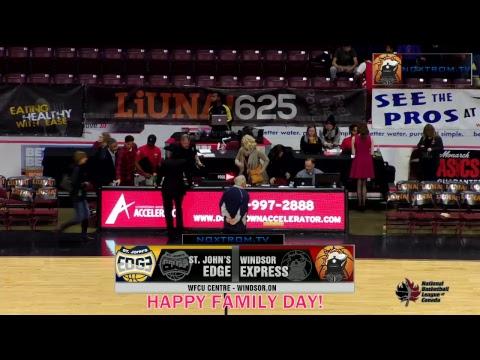 St. John's Edge vs Windsor Express | February 19, 2018 | NBL Canada