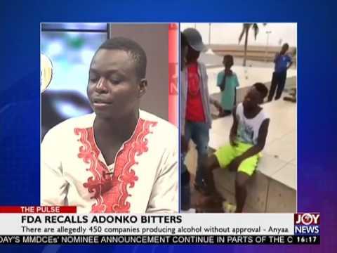 FDA Recalls Adonko Bitters - The Pulse on JoyNews (28-4-17)