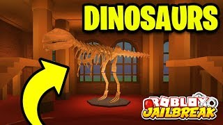 Roblox Jailbreak DINOSAURS LEAKED!! *NEW MUSEUM ROBBERY!* | Jailbreak Museum New Mini Update