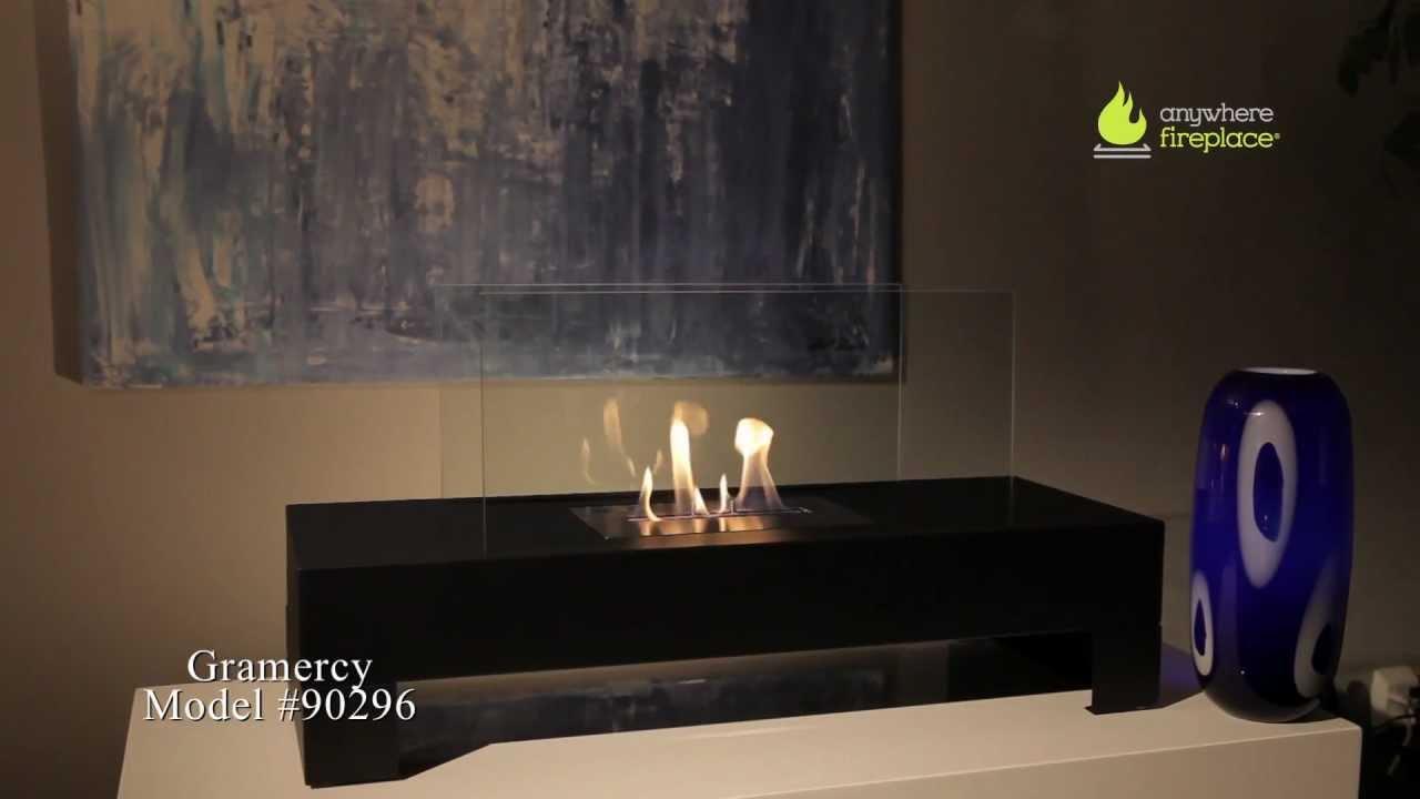 Anywhere Fireplace Gramercy BioEthanol Fireplace  indoorsoutdoors  YouTube