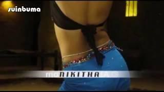Beautiful Nikitha hot hip fold and navel show